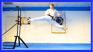 Taekwondo Breaking Sampler | Kicking & Hand Techniques | Ginger Ninja Trickster