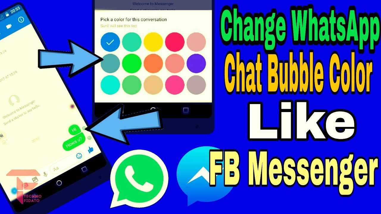 change whatsapp chat bubble color like facebook messenger youtube