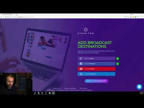 Live Broadcasting Using Your Browser