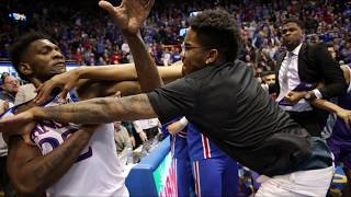 Kansas Basketball Brawl vs Kansas State Fight! Kansas Basketball Fight!
