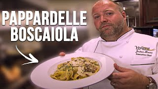 Learn How to Make Chopped Champion Josh Moore's Pappardelle Boscaiola!