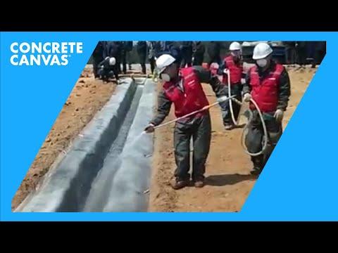 Concrete Canvas (CC) Channel Lining - Yangyang Gun highway, South Korea