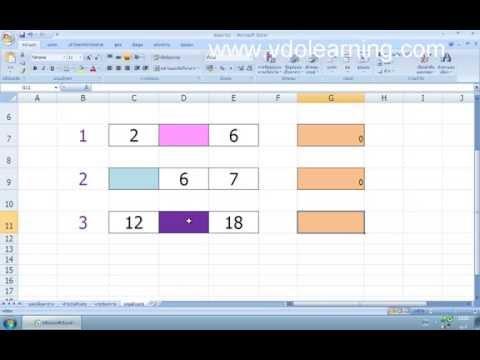 สร้างเกมตัวเลขด้วยโปรแกรม MS Excel