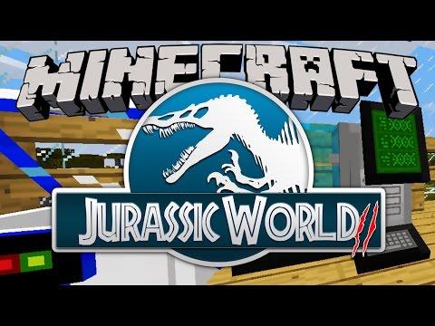 Minecraft Jurassic World 2: 100% Tyrannosaurus Rex DNA! & FOSSILS LAB! [JurassicCraft Dinosaurs] #3