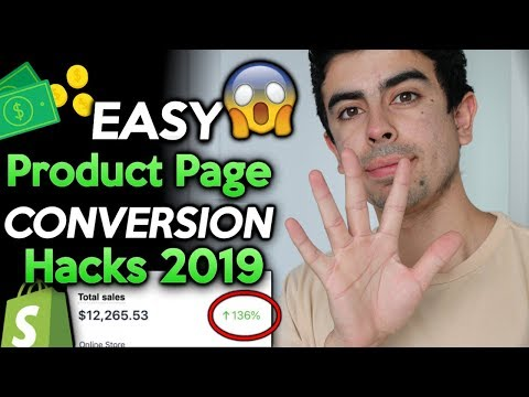 EASY Product Page Hacks For 2019 (Increase Conversion Rate) | Shopify Dropshipping 2019 thumbnail