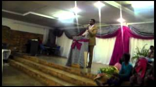Pastor Mgandela at the Gumbi S D Revival in Kwaggafontein AOG 26082015