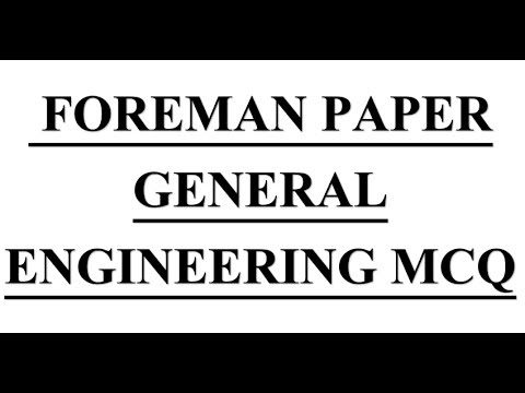 40+ MCQ OF PAST FOREMAN PAPER FOR YOUR IDEA ONLY