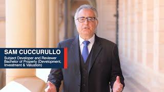 Sam Cuccurullo (Subject Developer) - Bachelor of Property (Development, Investment & Valuation)