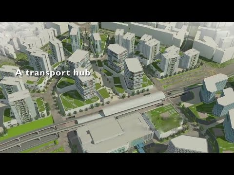BUILDING THE DOWNTOWN TRANSPORT HUB | Cities:Skylines |