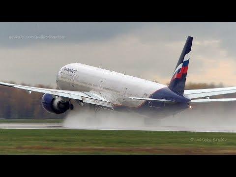 Aeroflot Boeing 777-300ER spill some fuel on takeoff.