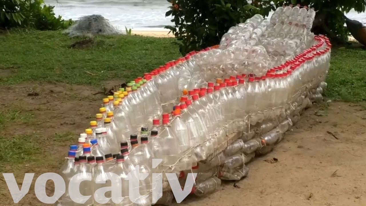 how to make a boat out of plastic bottles