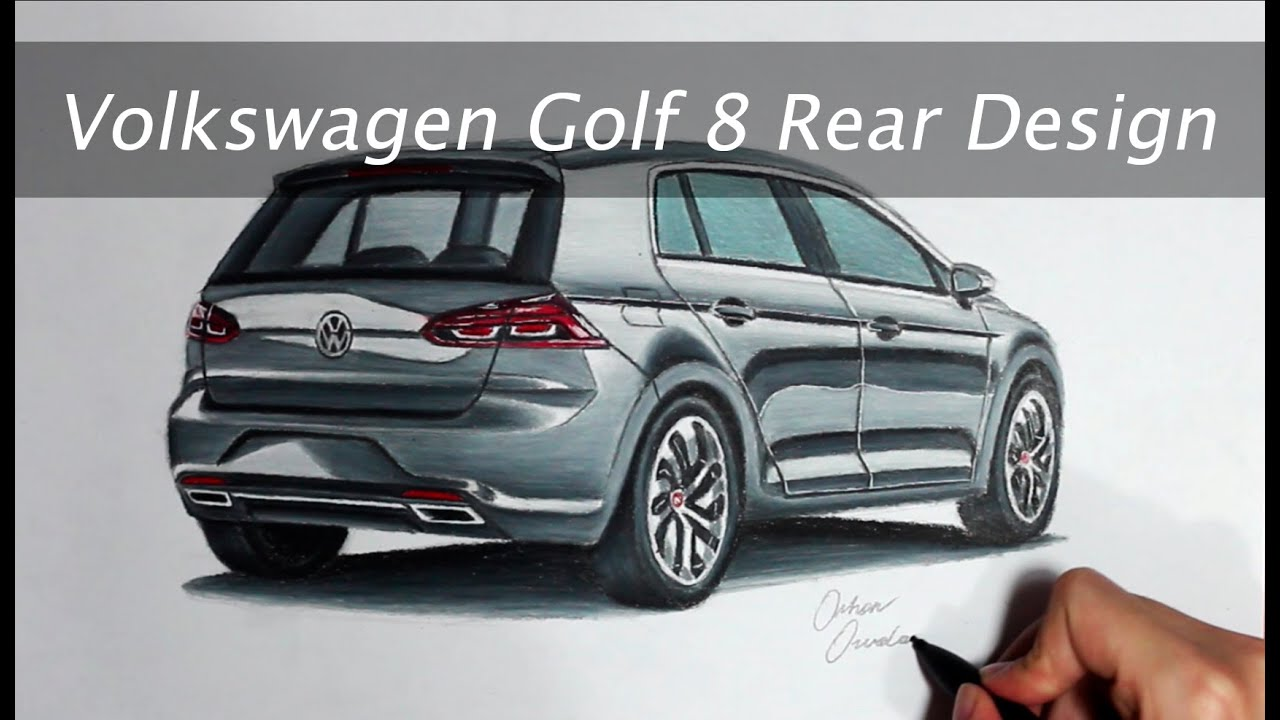 2017 volkswagen golf 8 rear design youtube. Black Bedroom Furniture Sets. Home Design Ideas