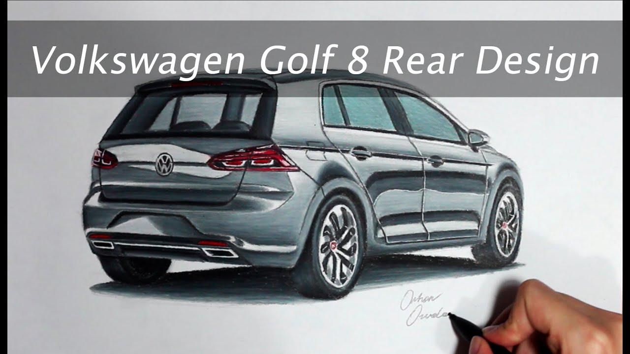 2017 volkswagen golf 8 rear design youtube. Black Bedroom Furniture Sets. Home Design Ideas