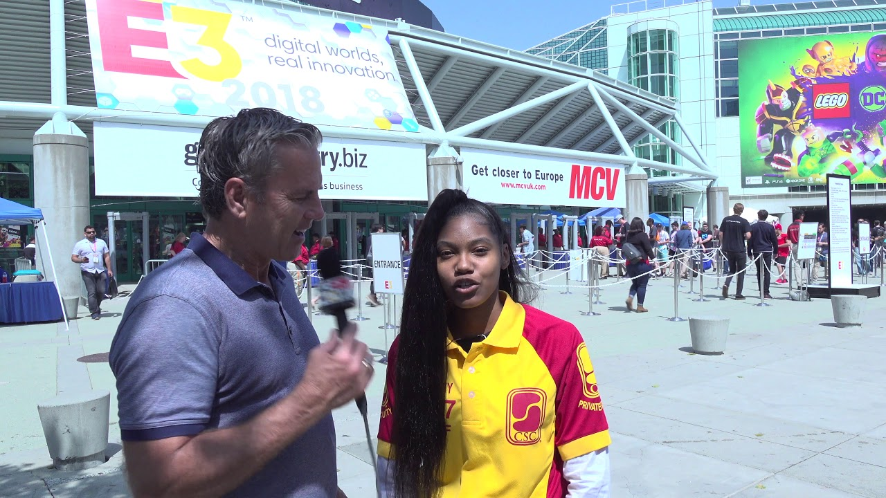 KGNOW Gains Security Perspective from CSC Andrea Outside E3 Los Angeles 2018