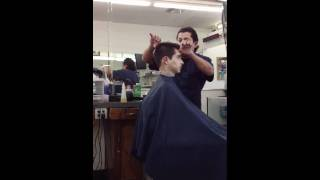 Cr7 getting haircut
