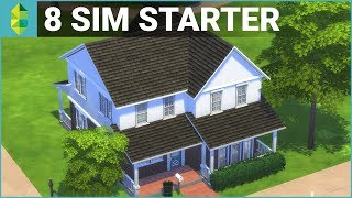 8 SIM BASE GAME STARTER | The Sims 4 House Building