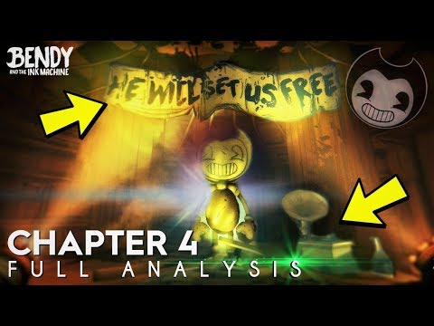 New BATIM Chapter 4 Teaser! - Full Analysis (Bendy & the Ink Machine Chapter 4)