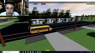 ROBLOX SCHOOL BUS SIMULATOR, I LEFT A BUNCH OF KIDS ON THE ROAD!!