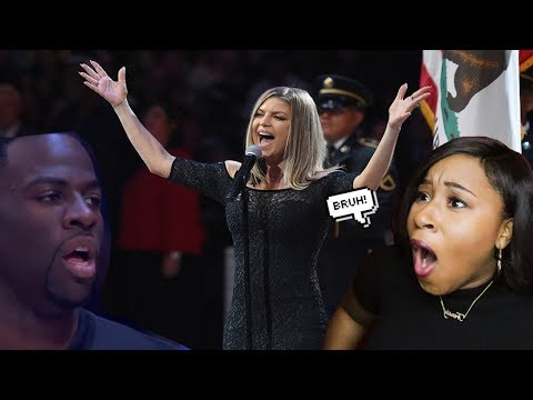 FERGIE SINGING NATIONAL ANTHEM AT THE ALL STAR GAME! (REACTION)
