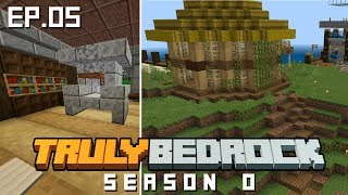 Truly Bedrock S0 E5 The secret Library and Island hut base