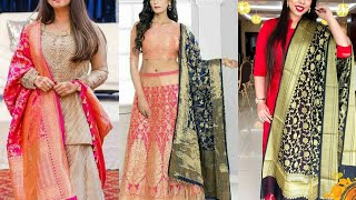 Simple Dress With Designer Banarasi Dupatta||New Fancy Collection||