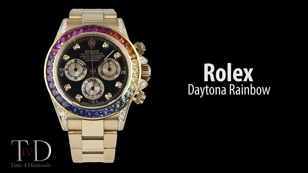 Rolex Daytona Rainbow 116528 40mm in yellow gold (T4D) watch review