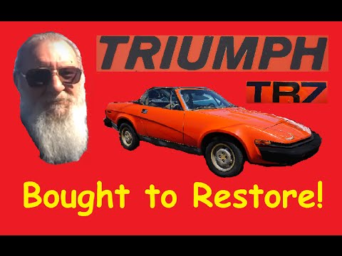 "Saved Scrap Restore Project ""Work Vlog"" Buyer gets Triumph TR7"