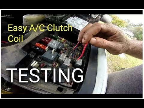 Easy A/C Clutch Coil Test A/C Clutch Not Engaging