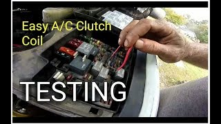 How to test your A/C clutch and coil using only a paper clip or pie...