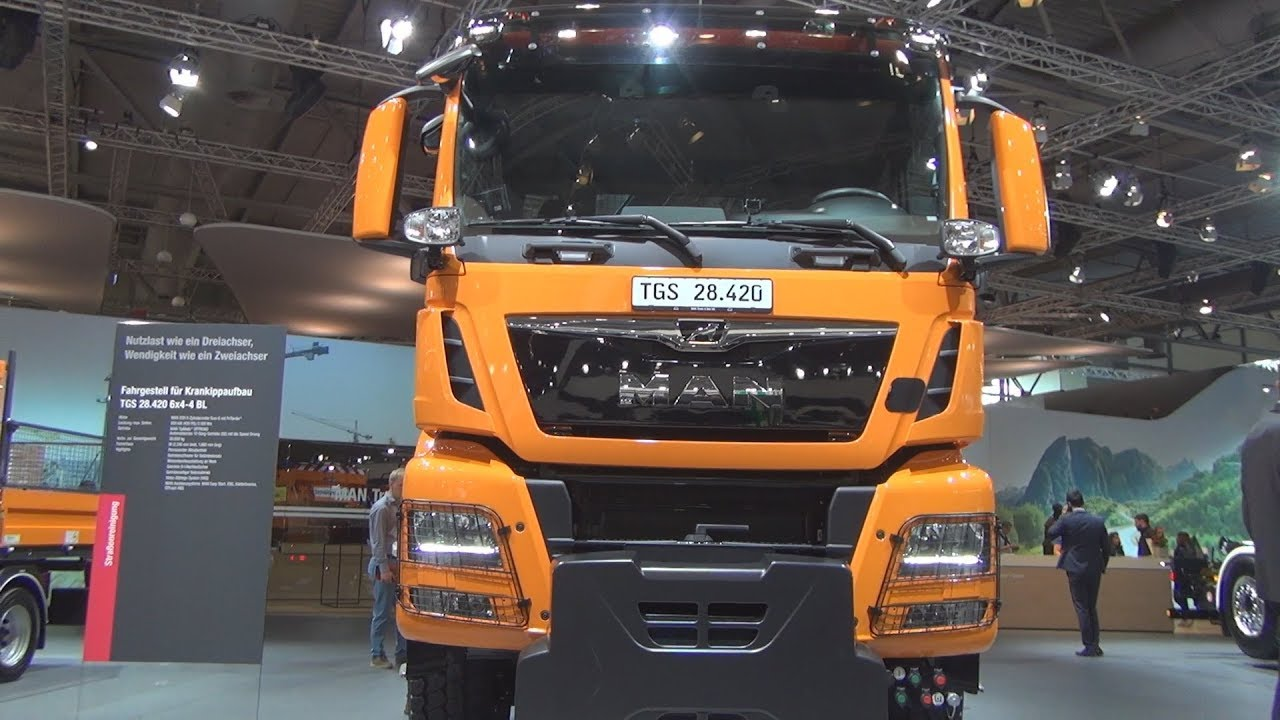 MAN TGS 28 420 6x4 4 BL Tipper with Crane Truck (2019) Exterior and Interior