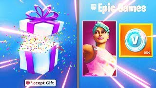 GIFTING THE FREE FORTNITE BIRTHDAY ITEMS.. HOW TO GET IT? (Fortnite Birthday Challenges)
