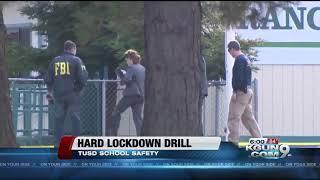 Watch as a school goes into lockdown