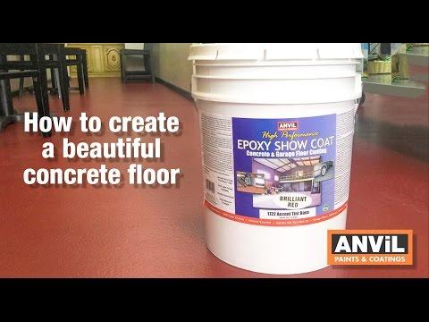 Epoxy Coating To Concrete Floors