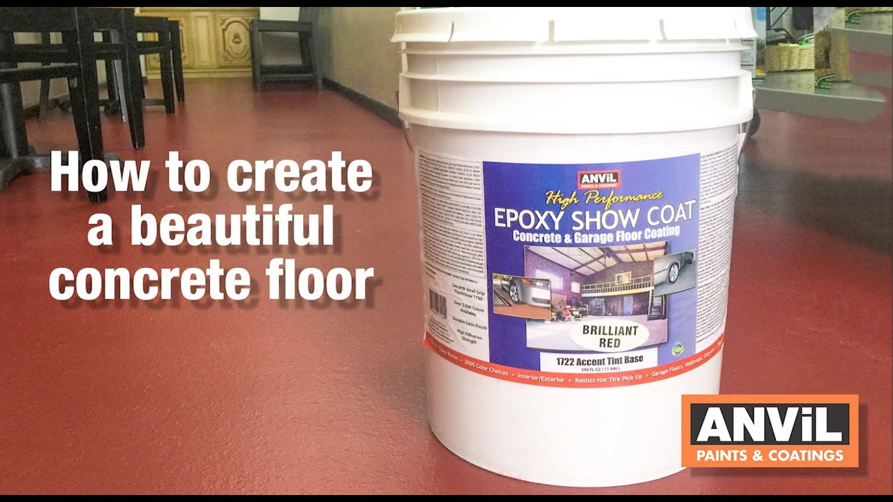 How To Apply Epoxy Coating To Concrete Floors Youtube