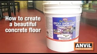 How to Apply Epoxy Coating to Concrete Floors