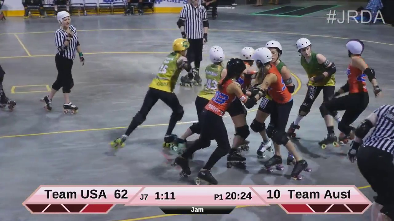 Roller Australia Jrda World Cup 2015 Team Usa Vs Team Australia Part 1