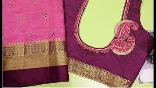 Hand embroidery fashion blouse for silk cotton saree