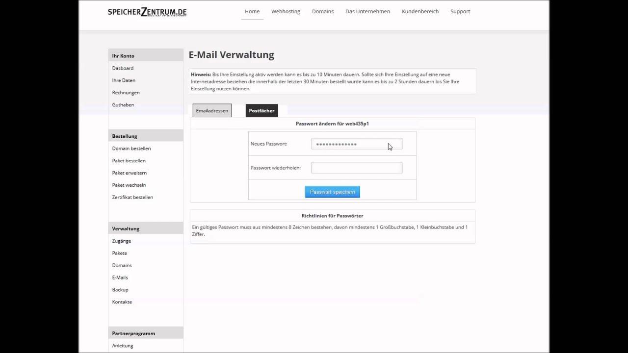 E Mail ändern