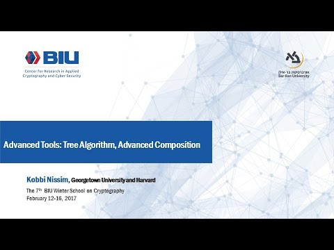 The 7th BIU Winter School: Advanced Tools: Tree Algorithm, Advanced Composition- Kobbi Nissim