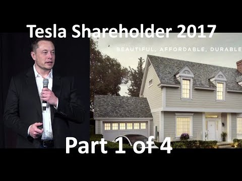 Elon Musk at Tesla Annual Shareholder Meeting - 2017-06-06 [Part 1 of 4]