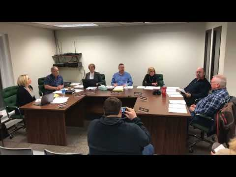 Pere Marquette Township board meeting. 2-13-2018