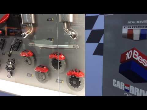 2017 Camaro Accessories on display- L.A Auto Show 2016