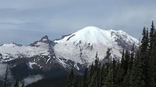 Road Trip to Sunrise, Mt Rainier National Park