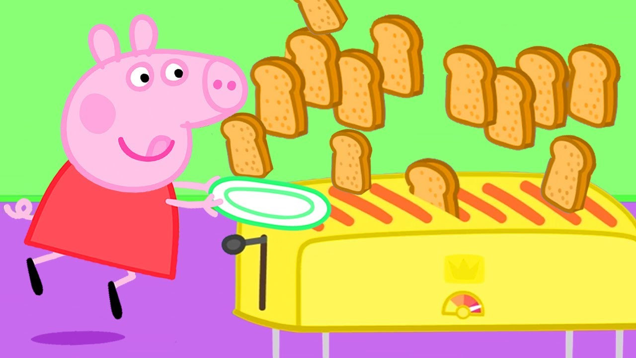 Download Peppa Pig Official Channel | Peppa Pig's Best Breakfast Club - The Toast Flood!