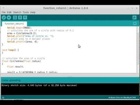 Returning a Value from a Function   Arduino Programming Part 16