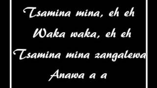 Waka Waka(This Time For Africa) Lyrics -- Official World Cup 2010 Song by Shakira