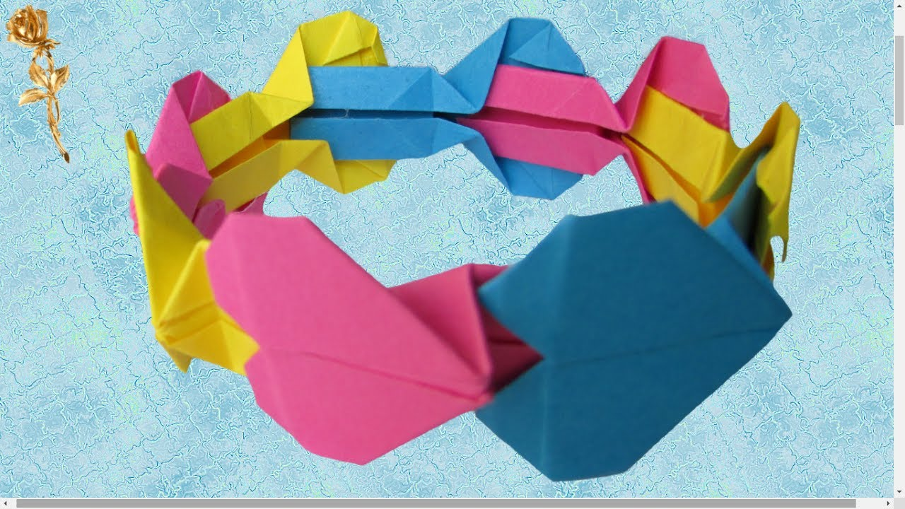 origami facile bracelet