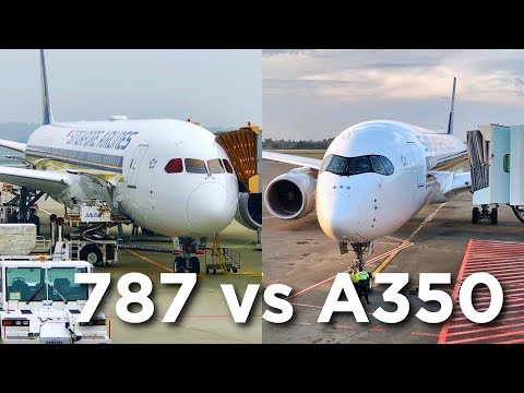 Airbus A350 vs Boeing 787 | Singapore Airlines Economy Class Comparison