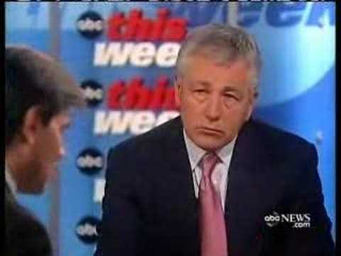 Chuck Hagel: The Surge Has Not Succeeded