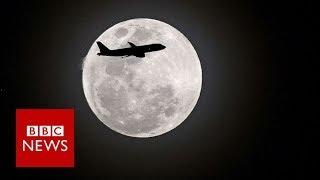 The 'super blue blood Moon' across the world - BBC News